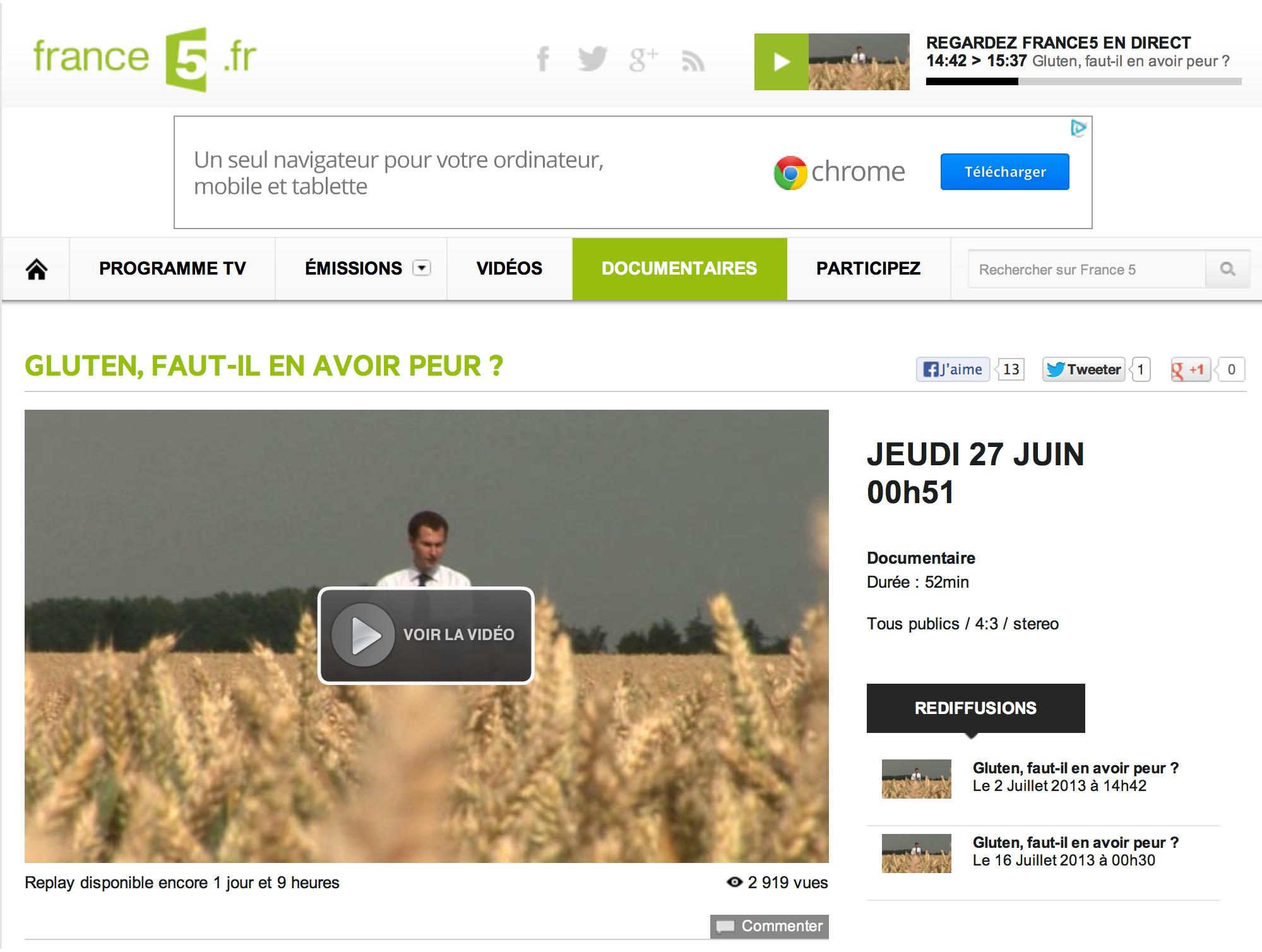 reportage france 5